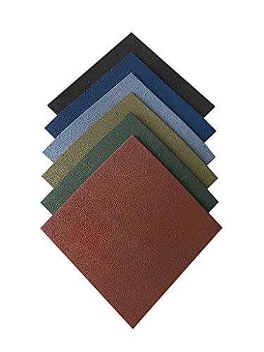 Pack loseta caucho para gimnasio | Medida 50 x 50 x 1,5 cm | Suelo caucho | Pavimento de caucho profesional| Suelo entrenamiento profesional (8 losetas (2 m²), Azul)