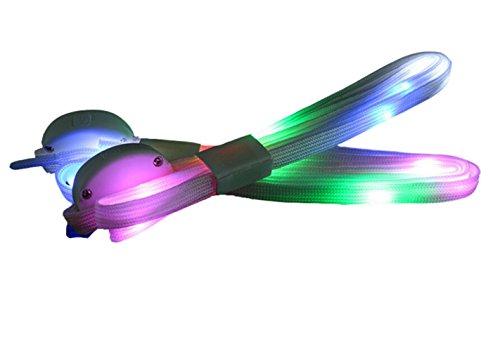 DATO 1 Paar LED Leucht Schnürsenkel leuchtende Nylon Blitz Nachtleuchtende Schuhbänder Glowing Flash Beleuchtung Schuhband