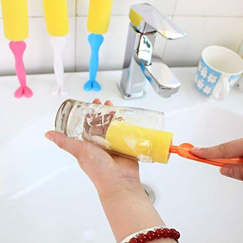 Cepillo Sponge Scrubber Cleaner 4 Paquete en posición Vertical Entrega aleatoria de Color, Cepillo de Limpieza Boyuewenhuachuanboyo