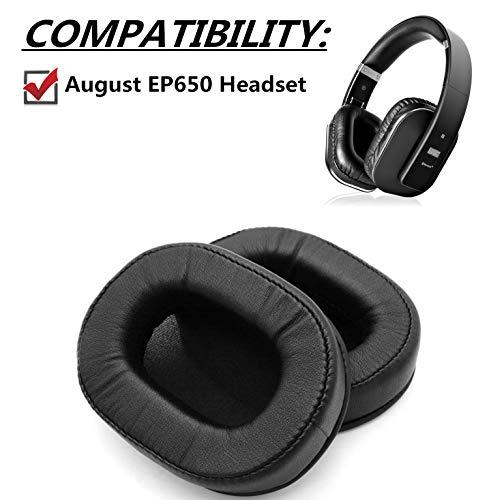 Ersatz-Ohrpolster für August EP650 EP 650 Ohrpolster Headset, Schwarz, 1 Paar
