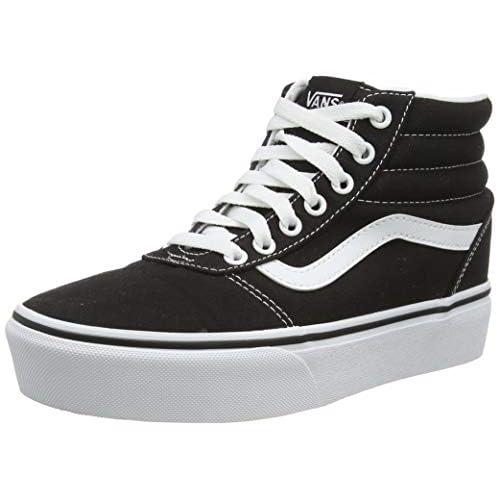 Vans Ward Hi Platform, Sneaker Donna, Nero ((Canvas) Black/True White 1wx), 38 EU