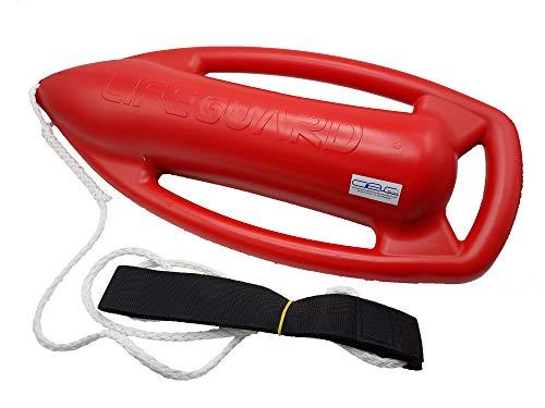 Glac Store® Professioneller Schwimmring für Badewanne Boa zum Retten, Typ Baywatch Lifeguard Polyurethan-Schaum und Körperband