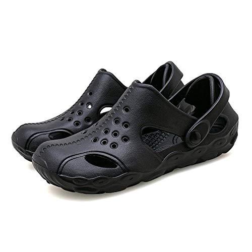WTFYSYN Piscina de Gimnasio Zapatillas,Zapatos de Verano de Fondo Plano, Medias Pantuflas de Colores Suaves-Negro_45,Suela De Espuma Suave Zapatos