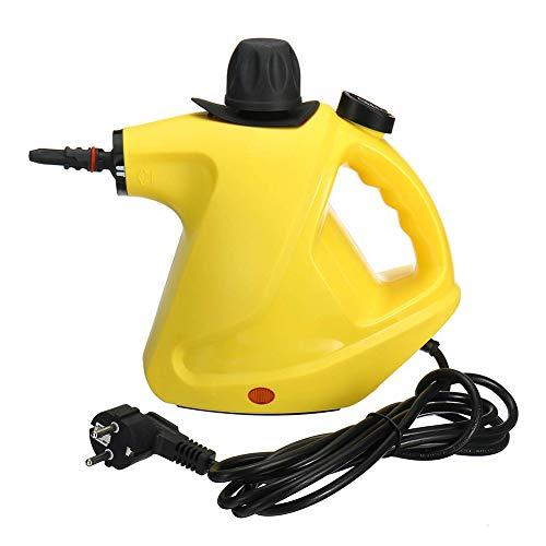 BTSSA Vaporeta Limpiador Al Vapor Compacto De Mano, 10 Accesorios, 1050W, 350ML Adecuado para El Hogar Y La Oficina,Spray De Alta Temperatura De 140 Grados
