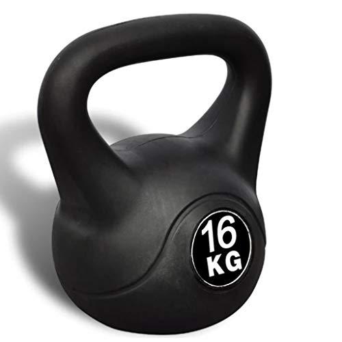 mewmewcat Pesa Rusa, Kettlebell 16kg para fisicoculturismo Musculación Fitness Ejercicio y Entrenamiento con Pesas Agarre Suave Peso