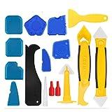 Kit de herramientas de calafateo de 16 piezas Sellador de silicona Herramientas de acabado Scraper Remover Remover Kit de boquilla para la cocina Baño