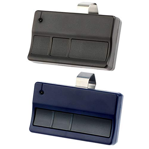 Buy Discount 2 Garage Door Remote Opener for Liftmaster 373LM Chamberlain 953CD - (Black + Blue)