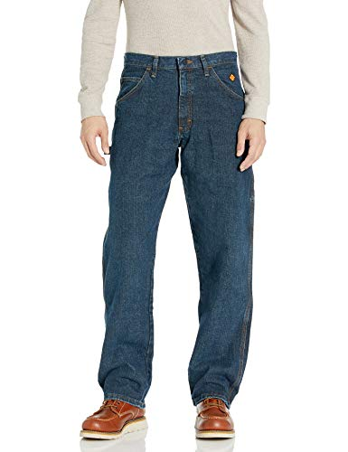 Wrangler Men's Flame Resistant Carpenter Jean, Indigo, 35x30