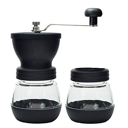 YUMUO RVS Koffie Grinder,Hand Grinder Met Back Up Potje Koffie Molen Handmatige Espresso Grinder Koffiemachine Cuisinart Voor Café Thuis Mat Cappuccino