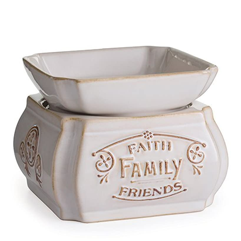 Candle Warmers Etc. 2-in-1 Classic Fragrance Warmer, Faith, Family, Friends