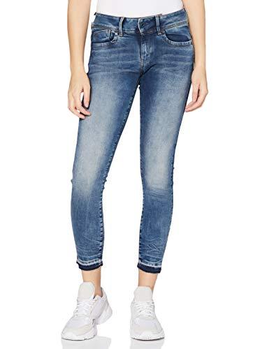 G-STAR RAW Womens Lynn Mid Waist Ripped Ankle Skinny Jeans, Antic Faded kyanite C296-B990, 29W / 32L