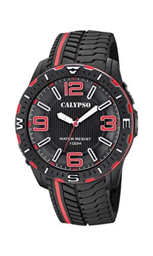 Calypso Watches Reloj Analógico para Hombre de Cuarzo con Correa en Plástico K5762/5