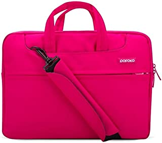 PU01S PU Leather Horizontal Invisible Magnetic Buckle Laptop Inner Bag for 14.1 inch laptops with Small Bag Color : Pink