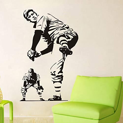 Tianpengyuanshuai Baseball Pitcher Spieler Wandaufkleber cool Sport Aufkleber Vinyl 68X106cm
