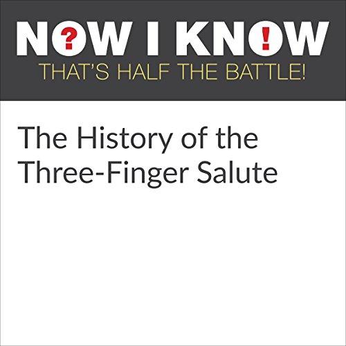 Diseño de la portada del título The History of the Three-Finger Salute