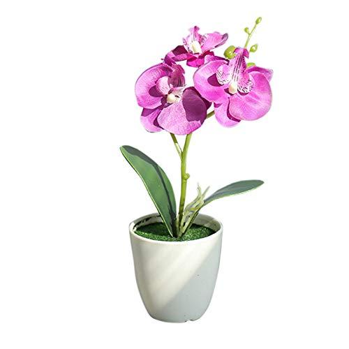 Fleurs artificielles pour la décoration, plantes artificielles en pot, fleurs artificielles élégantes pour l'extérieur, bouquet de mariage, fleur en soie pour la maison, le jardin