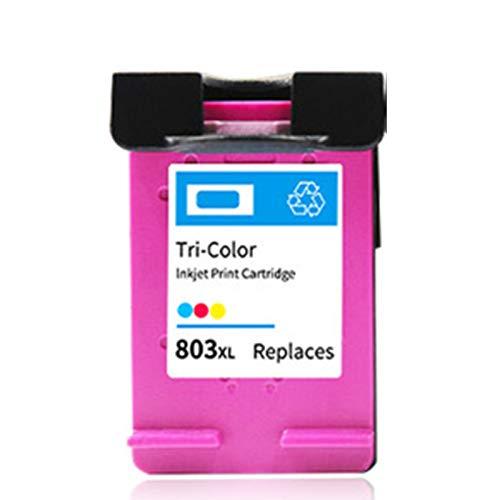 Cartucho de tinta 803xl, adecuado para HP Black HP2132 1112 2131 1111 2623 Impresora de inyección de tinta, puede agregar tinta, 1 tri-color 450 páginas