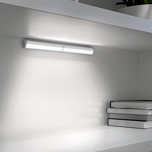 Aglaia Lampada Armadio a 20 LED con Sensore Movimento, Batteria Ricaricabile 1000mAh e Striscia Magnetica per Scale, Corridoio, Guardaroba, ecc.