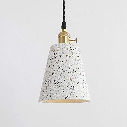 Chandelier de granja E27 Lámparas de suspensión de Terrazo Terrazzo E27, techo de hormigón Colgante Colgante Lámpara de lámpara de araña con soporte de lámpara de latón Interior Iluminación de techo d