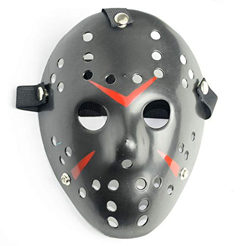Boolavard Horror Halloween Costume Hockey Mask Party Puntelli Cosplay Maschera (Nero)