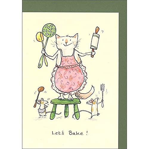 グリーティングカード 多目的 「お菓子を焼こう!」 かわいい イラスト メッセージカード ギフト 贈り物 手紙 封筒付き イギリス製