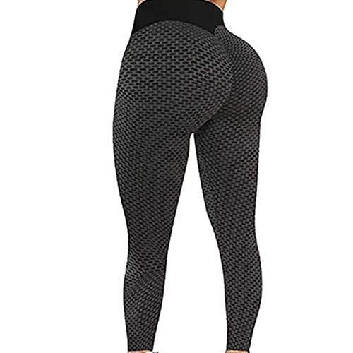 YAOQI Calça feminina de ioga, legging TIKTok, levanta o bumbum, calça de ioga de cintura alta