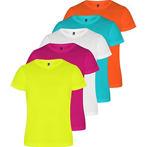 ROLY Camiseta Hombre (Pack 5) Deporte | Camiseta Técnica para Fitness o Running | Transpirable (COMBINACIÓN 3, M)