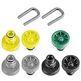 SPARES2GO Juego de chasis de boquilla compatible con Karcher K2 K3 K4 K5 K6 K7 T-Racer lavadora a presión (7 boquillas + 2 clips en U)