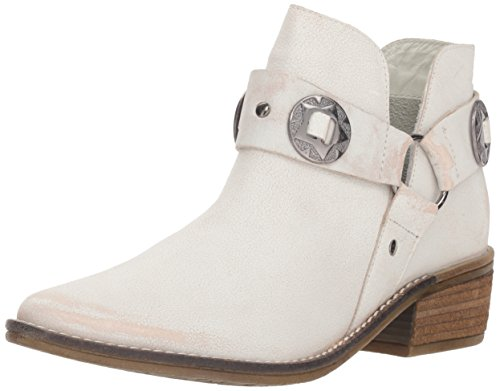 Chinese Laundry Women's Austin Ankle Boot, white leather, 7.5 M US