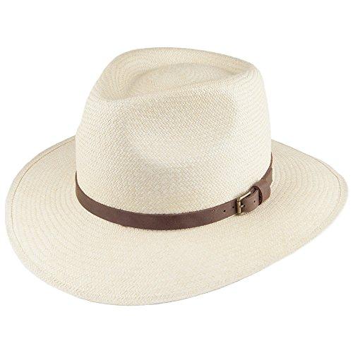 Village Hats Chapeau Australien Panama Naturel Signes - Large