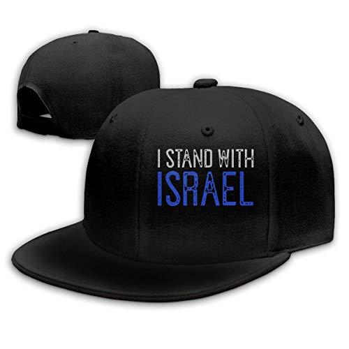 OOworld I Stand with Israel Men Women - Berretto da Baseball Regolabile Semplice da Baseball