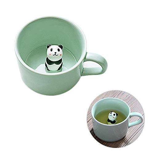 REAMTOP Panda Surprise 3D Coffee Mug Cute Cartoon Animal Ceramics Cup, the Best Choice for Gifts, 10 OZ