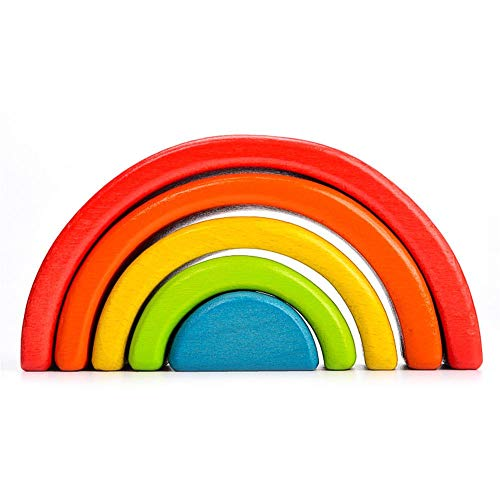 Buy Discount Funarrow Wooden Rainbow Stacker Toys, Large Nesting Stacking Game Educational Learning ...
