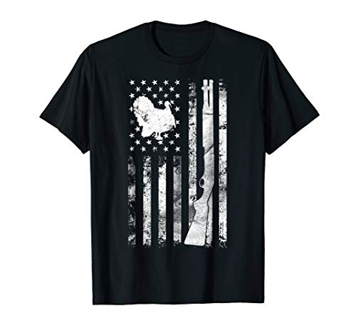 Turkey Hunting Flag T-Shirt For Hunters | Hunting Gifts