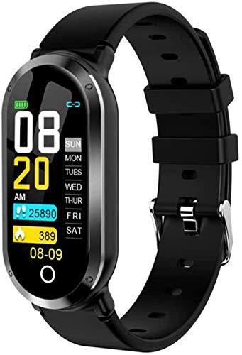 Pulsera de actividad física con monitor de frecuencia cardíaca, impermeable, inteligente, contador de pasos, contador de calorías, podómetro, reloj para niños, mujeres, hombres-D
