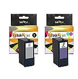 CVT - Pack Tintas Compatibles 36XL Negro + 37XL Tricolor para Lexmark X3650 X4650 X5650 X5650es X6650 X6675 Z2400 Z2420
