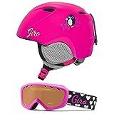 Giro Slingshot Kids Snow Helmet Goggle Combo Matte Bright Pink Penguin/Magenta Hearts M/L (52-55.5CM)