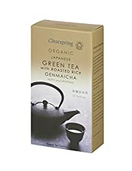 A delicious tea with a delightfully nutty flavour and aroma Organic Japanese green tea with roasted brown rice Good source of high in protein Perfect complement to any meal