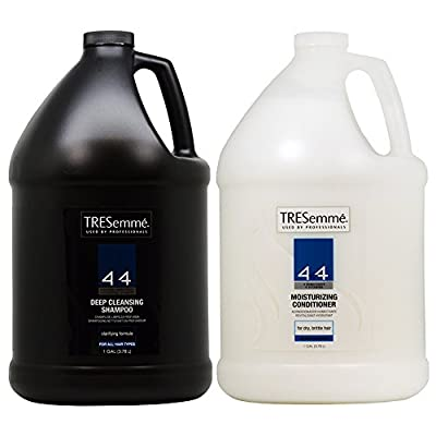 TRESemme 4+4 Deep Cleansing Shampoo & Moisturizing Conditioner 1 gallon Duo