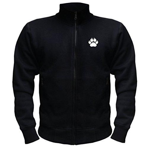 Spaß kostet Männer und Herren Trainingsjacke Der Hund ist dir im Sturme treu (mit Rückendruck)