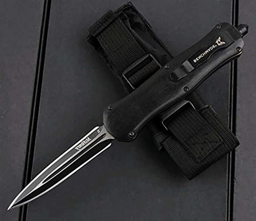 Premium Outdoor Klappmesser Scharf Stahl Messer metall Klinge holzGriff Aluminium Messer clip multi Taschenmesser Einhandmesser Survival Halskette klein Messer schwarz werkzeuge Wandern/scheide