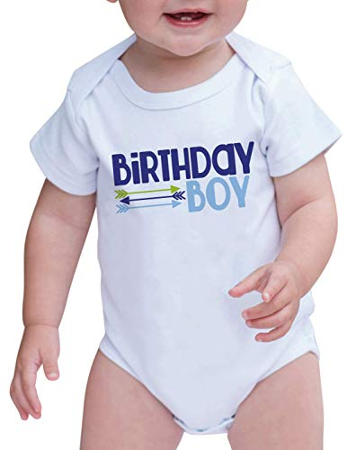 7 ate 9 Apparel Baby Boy's Arrows First Birthday Onepiece Outfit 12-18 Months Blue and Green