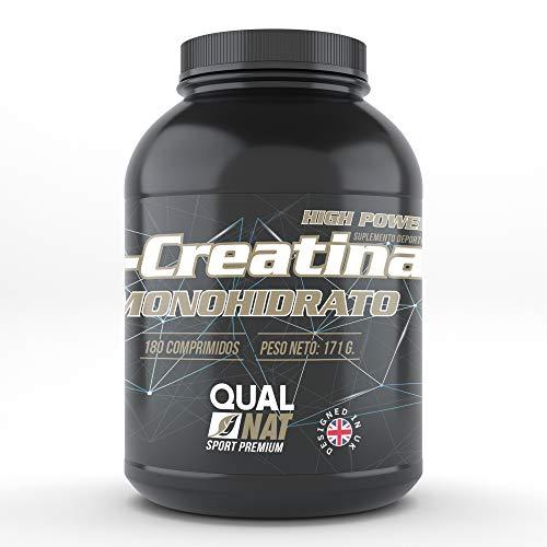 Creatina Monohidrato | Suplemento Deportivo Para Aumentar el Rendimiento Deportivo y la Masa Muscular | Más Fuerza y Energía | 180 Comprimidos Creatina