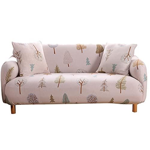 Funda de sofá con Estampado de Hojas Pastoral Sofá en Forma de L Sofá de Diferentes Formas Sofá de Dos plazas Sala de Estar Dormitorio Oficina A17 2 plazas