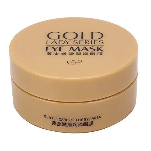 riuty 24 Karat Gold Augenmaske, unter Augenklappen 30 Paar Gel-Augenmaske für geschwollene Augen Anti Aging Entfernen von Beuteln Tiefe Flüssigkeitszufuhr Lindert Augenringe