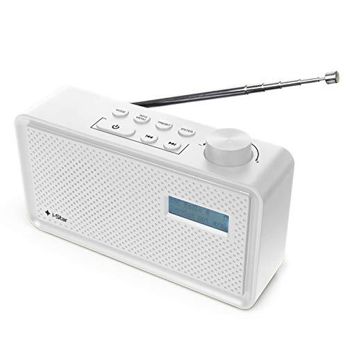 Radio DAB DAB+ e FM Portatile Ricaricabile, Radiolina Portatile Digitale Piccola Alimentate a Batteria con Ricarica USB (Bianco)
