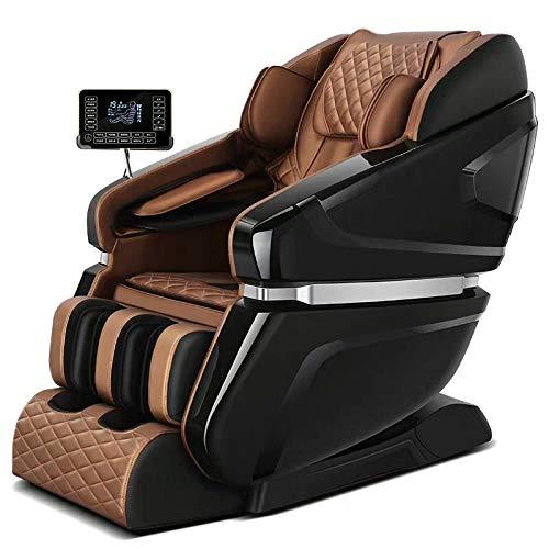 VODVO Massage-Stuhl, Schwerelosigkeit Massagesessel, SL 4D Ganzkörper-Air-Massagesessel Lehnstuhl, Bluetooth-Lautsprecher, Heat & FootRoller