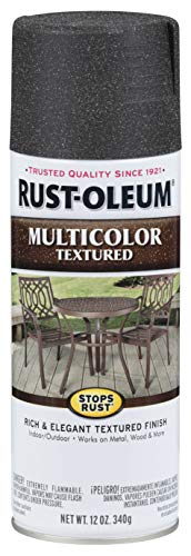 Rust-Oleum 223525 Stops Rust Multi-Color Textured Spray Paint, 6 Pack, Aged Iron, 72 Ounce