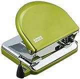 Petrus 626520 Taladro de Oficina Clásico con Barra Guía y Marcas de Formato, Perfora 20 Hojas, Metal, Gama WOW,Verde