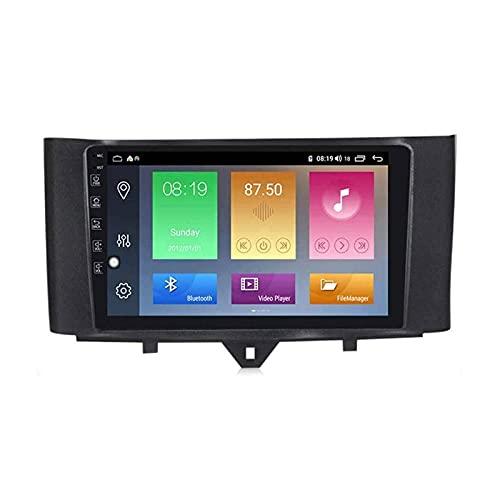 Coche GPS Pantalla táctil Navegación Radio Estéreo Reproductor multimedia Soporte Mirrorlink Wifi 4G Mapa Bluetooth Llamadas manos libres para Benz Smart Fortwo 2011-2015,8 Core 4G + WiFi: 4 + 64GB